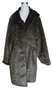 Dennis Basso Reversible Faux Fur Fur Coat