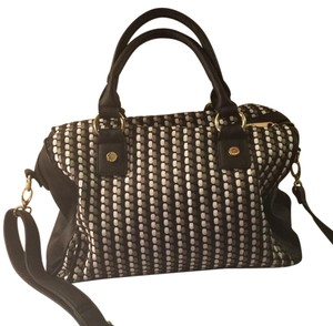 Big Buddha Satchel in black, white, gun metal grey