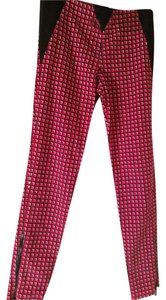 paco rabanne Skinny Pants Red black white