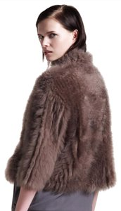 Brunello Cucinelli Fur Cashmere Jacket Fur Coat