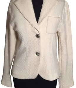 State of Mind Pearl winter white and light multi colored sparkles Blazer