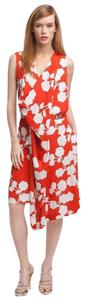Diane von Furstenberg short dress Red and white Dvf Naira Dvf Dvf Halo Buds on Tradesy
