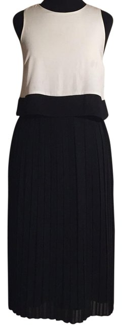 Item - Black and White Long Work/Office Dress Size 4 (S)
