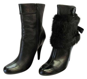 Dollhouse Size 9.00 M Faux Fur Leather Very Good Condition Black Boots