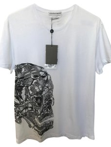 Alexander McQueen New Never Worn Skull T Shirt White