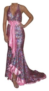 Night Moves Prom Collection Sequin Hi Lo Dress