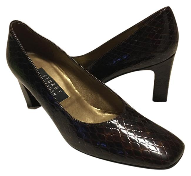 Item - Brown Leather Sole Snakeskin Inspired Classic Pumps Size US 7.5 Narrow (Aa, N)