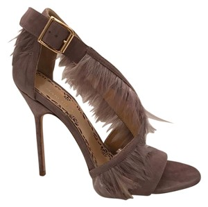 Marchesa Feather Suede Lilac suede Sandals