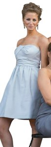 Jenny Yoo Silver Luxe Shantung Kennedy Formal Bridesmaid/Mob Dress Size 0 (XS)