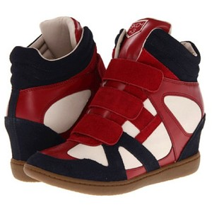Skechers Navy/Red/White Wedges