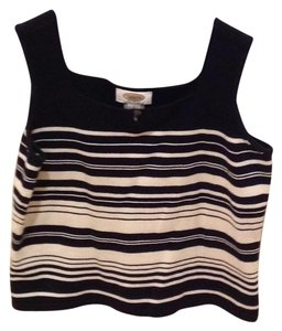 Talbots Top Black and off white.