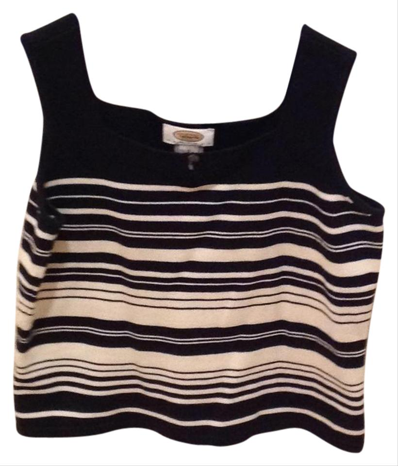 Talbots Black And Off White Tank Topcami Size Petite 6 S