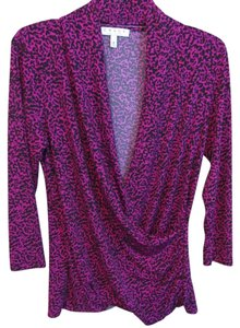 Chaus Top Purple and Black