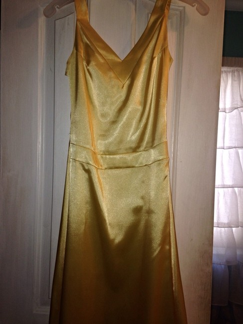 Item - Yellow Satin Bridesmaid/Mob Dress Size 2 (XS)