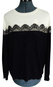 Vince Camuto White Lace Sweater