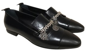 Chanel Charm Logo Loafer Leather Ballerina blue Flats