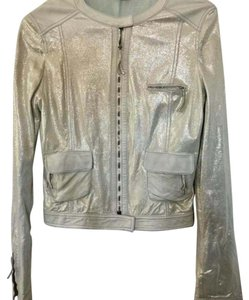 Fendi Seafoam Green Leather Jacket