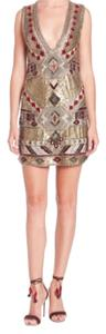 Alice + Olivia Mini Sequin Shift Dress