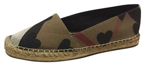 Burberry Espadrille Black Brown Multi Flats