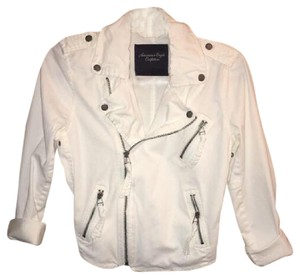 American Eagle Outfitters Off-white Womens Jean Jacket