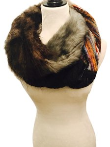 Anthropologie Infinity Faux Fur Scarf