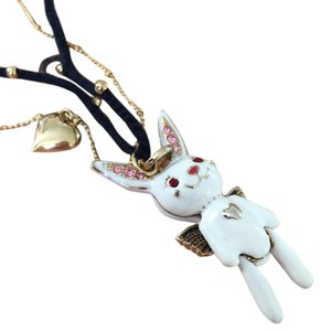 Betsey Johnson Snow Angel Rabbit Necklace