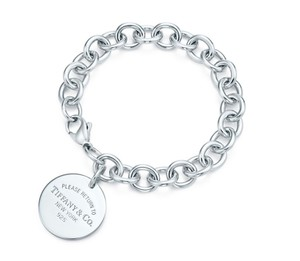 Tiffany & Co. Tiffany & Co Sterling Round Circle Tag Return To Logo Chain Bracelet