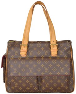 Louis Vuitton Monogram Satchel Multiple Cite Handbag Shoulder Bag