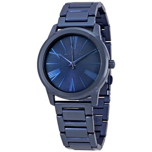 Michael Kors Michael Kors Women's Hartman Blue Ion-Plated Bracelet Watch MK3509