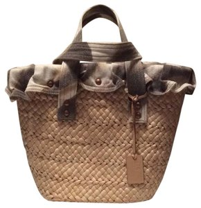 Polo Ralph Lauren Tote in Natural,Olive,Cream
