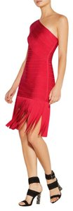 Hervé Leger Fringe Hem Bodycon One Dress