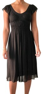 Black / Espresso Brown Maxi Dress by Theory