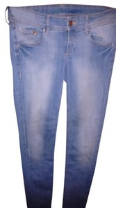 H&M Washed Skinny Low Rise Skinny Jeans-Medium Wash