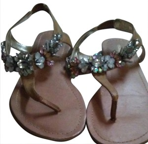 Madden Girl Jeweled Nuetral nude Sandals