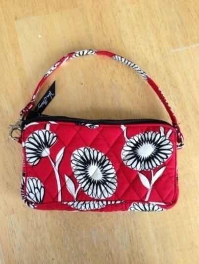 Vera Bradley Wristlet in red, black, white