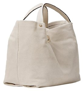 Kate Spade Suede Gold Hardware Luxe Tote in Mousse Frost