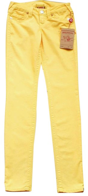 Item - Yellow Shannon Skinny Jeans Size 24 (0, XS)