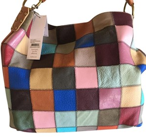 Kooba Patchwork Handbag Hobo Bag