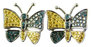 Other Ladies Butterfly Shape Diamond Multi Stud Earrings .75Ct