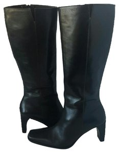 Etienne Aigner Leather 7 37 Black Boots