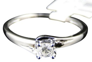 Other WHITE GOLD REAL WEDDING ANNIVERSARY BAND RING 1/8 Ct
