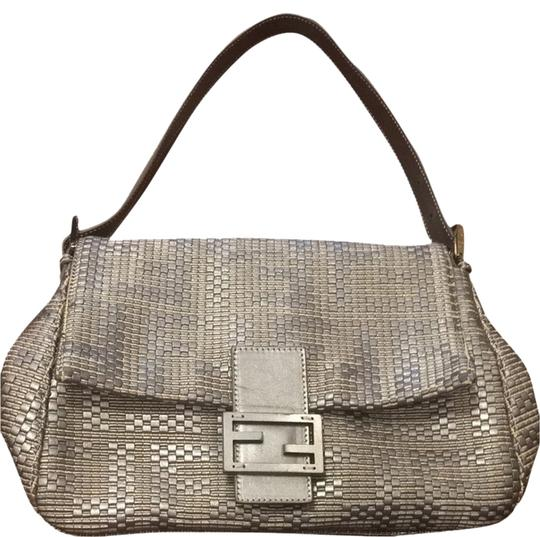 Preload https://item2.tradesy.com/images/fendi-metallic-bluesilver-woven-leather-shoulder-bag-2083346-0-0.jpg?width=440&height=440