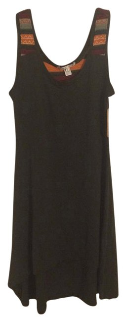 Item - Green Embroidered Hi-low Short Casual Dress Size 8 (M)