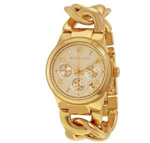 Michael Kors Michael Kors Twist Gold Glamorous Chain Link Watch MK3131