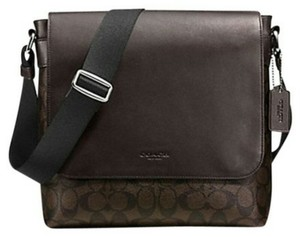 Coach Cross Body File Laptop Charles Messenger Dark brown and black Messenger Bag