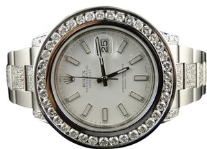 Rolex Rolex Datejust 2 Ii White Dial Genuine Diamond Watch 12 Ct