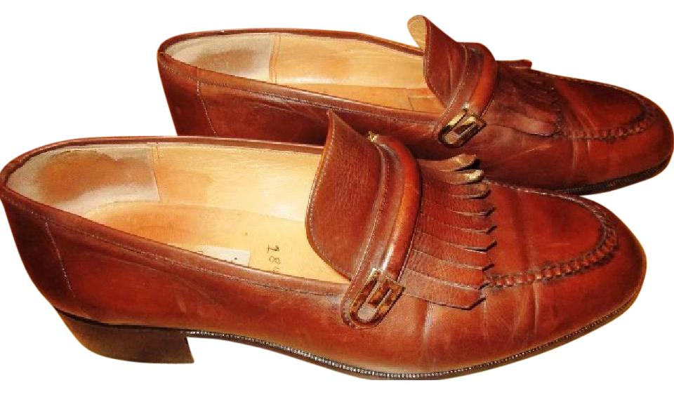 d8be3631b9e Gucci Brown Mens Vintage Leather Loafers Flats Size US 7.5 Regular ...