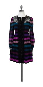 Nanette Lepore short dress Multi Color Striped Silk on Tradesy