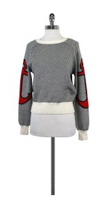 See by Chloé Blue White Anchor Sweater