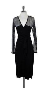Diane von Furstenberg Black Zalda Bis Lace Dress
